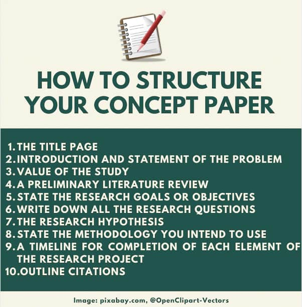 How to structure a concept paper
