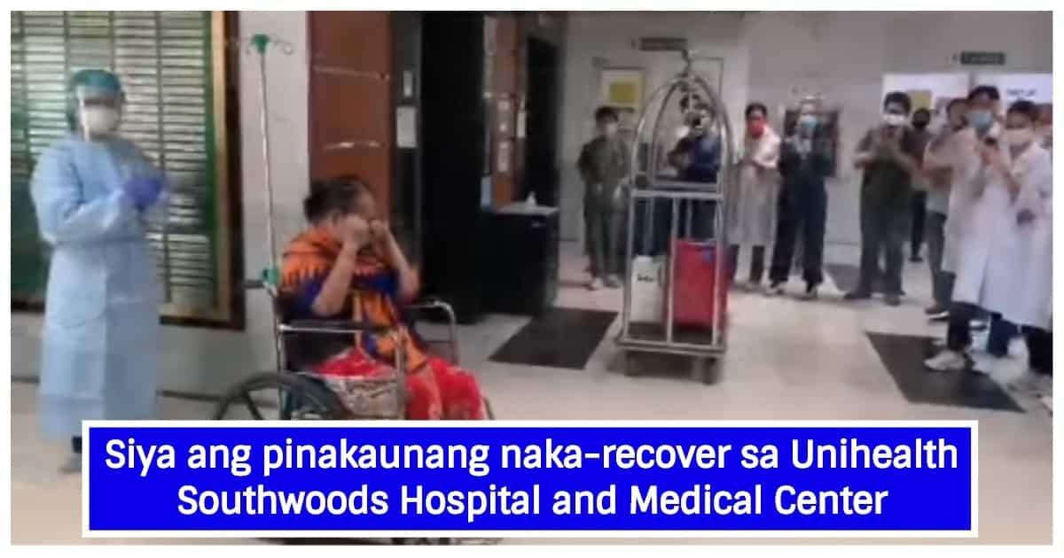 59-anyos na COVID-19 survivor, emosyonal na nagpaalam sa mga health workers