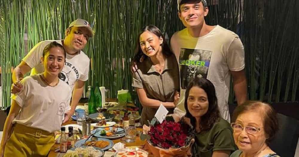Kim Chiu attends birthday celebration of Xian Lim's mother Mary Anne