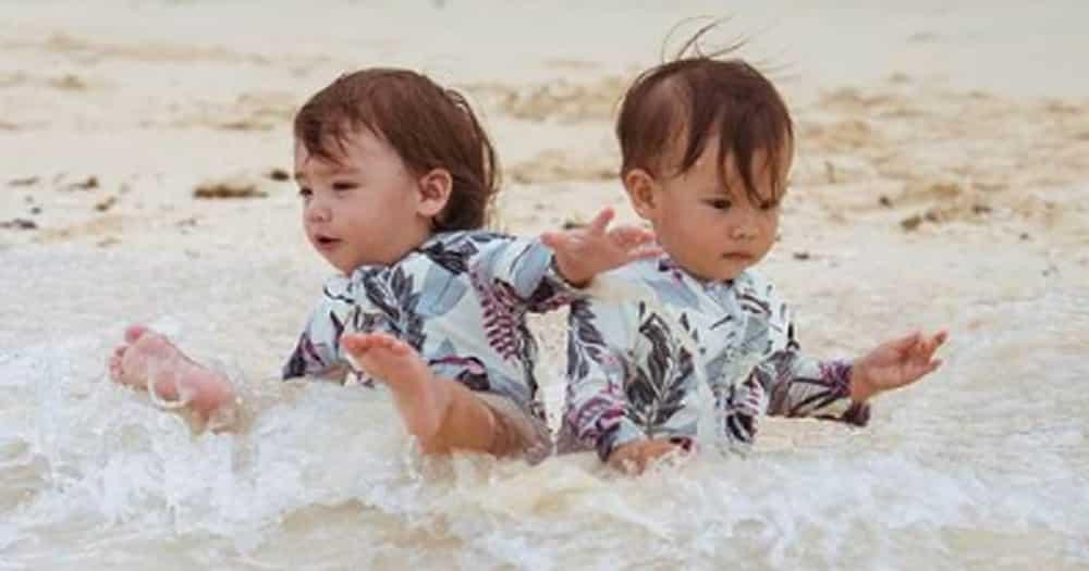 Baby Thylane, sweet na sweet kay baby Dahlia habang pinakakain sila ni Erwan Heussaff