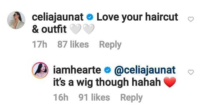 Heart Evangelista clarifies she just wearing a wig in her new viral photos