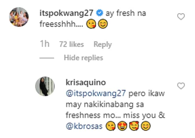 Kris Aquino reacts to Pokwang & K Brosas' comments on her viral post