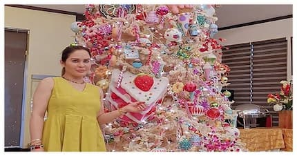 Yayamanin talaga! Jinkee Pacquiao proudly shows Christmas tree in GenSan mansion