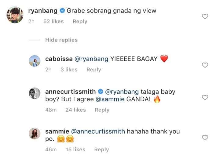 Anne Curtis, Ryan Bang react to swimsuit photo of Arjo Atayde's ex-girlfriend Sammie Rimando