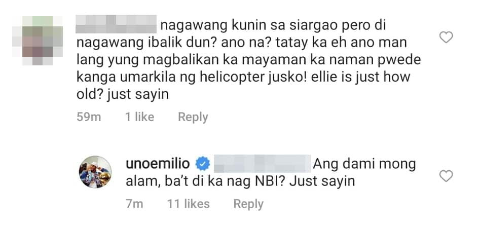 Jake Ejercito shuts down troll who criticized him for letting Ellie Eigenmann fly alone