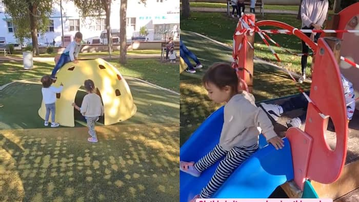 Videos of baby Thylane playing in public park in Spain with other kids, viral