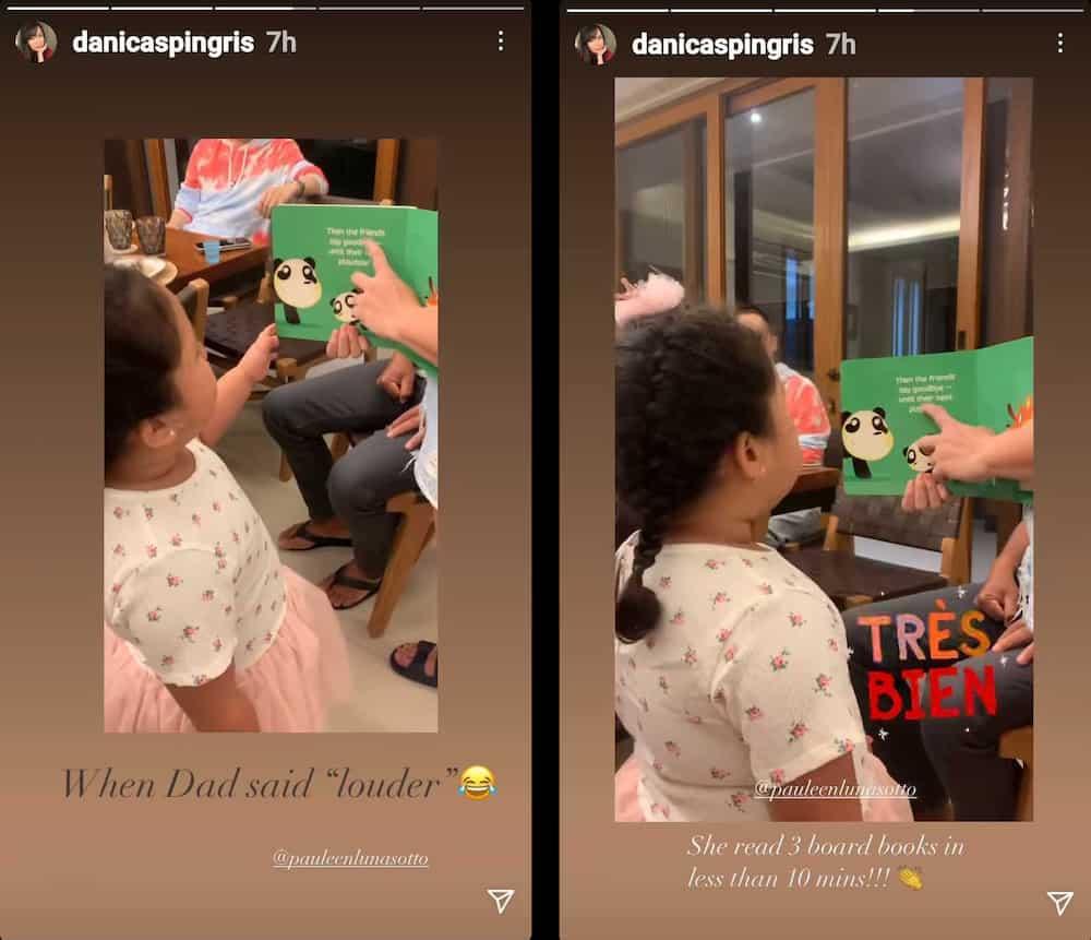 Danica Sotto, proud sa video ni baby Tali na nagbabasa ng children's book