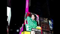 James Reid featured in New York's Times Square billboard