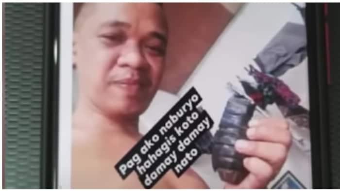 Lalaking nagbanta at nag-post na may hawak na granada, selos daw ang dahilan