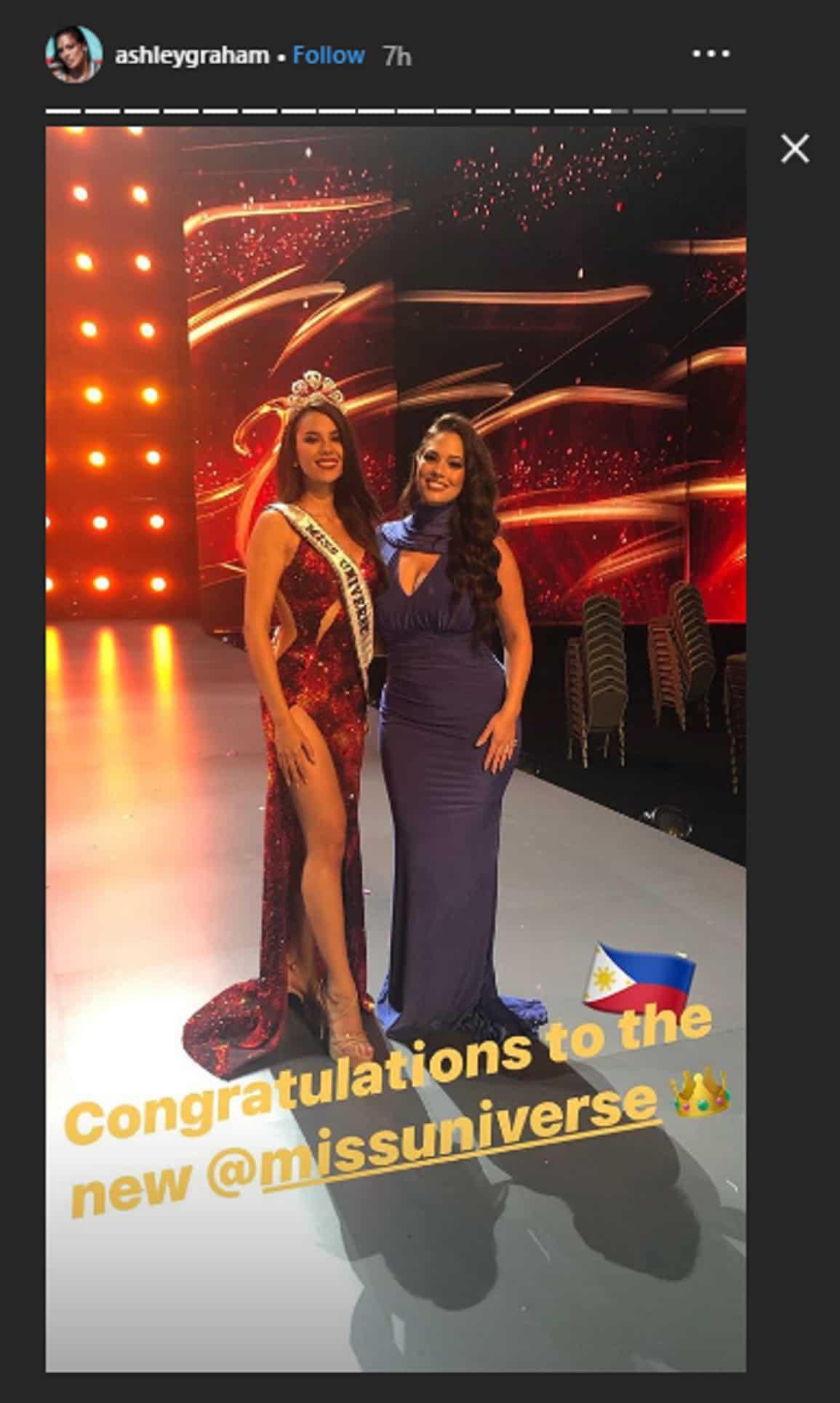 Isa sa mga hosts ng Miss Universe na si Ashley Graham, inaming pambato nya rin si Catriona Gray
