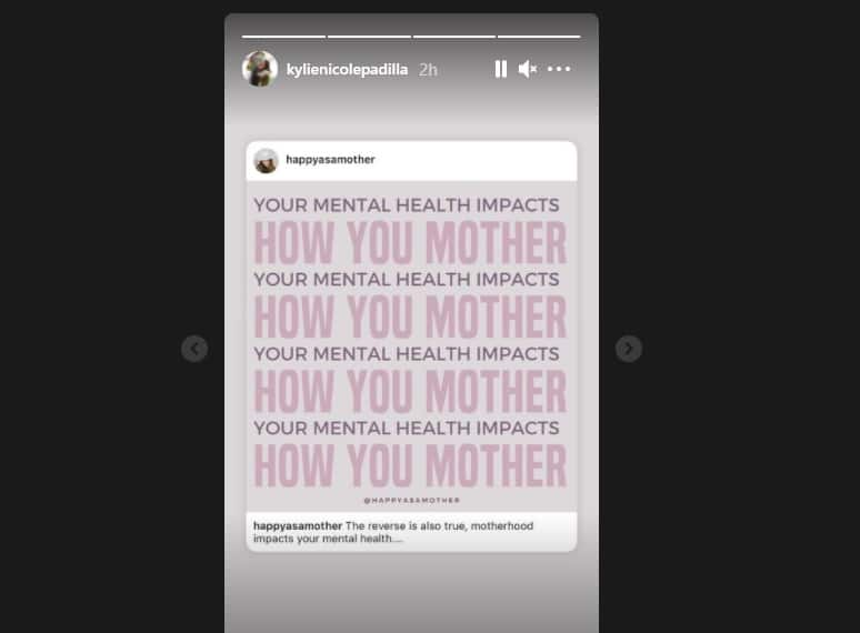 Kylie Padilla posts about mental health & motherhood amid issue with Aljur