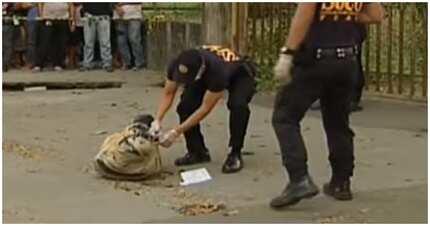 Bangkay ng lalaki, basta na lang isniksik sa garbage bag at iniwan sa UP Diliman
