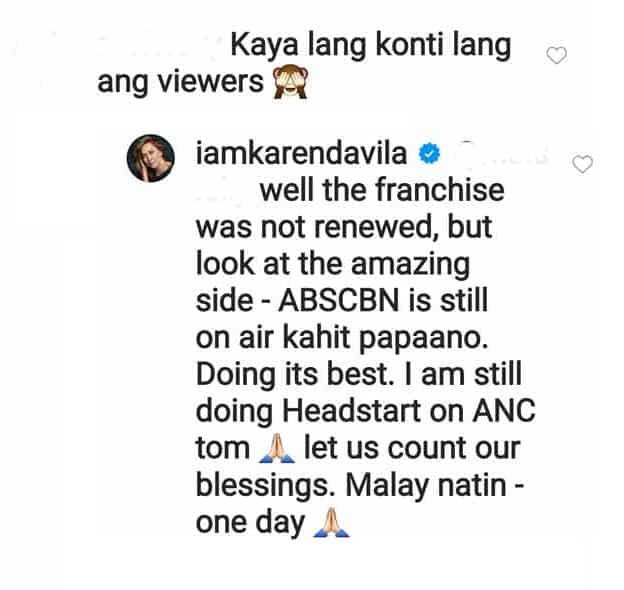Karen Davila remains hopeful after netizen said TV Patrol has few viewers
