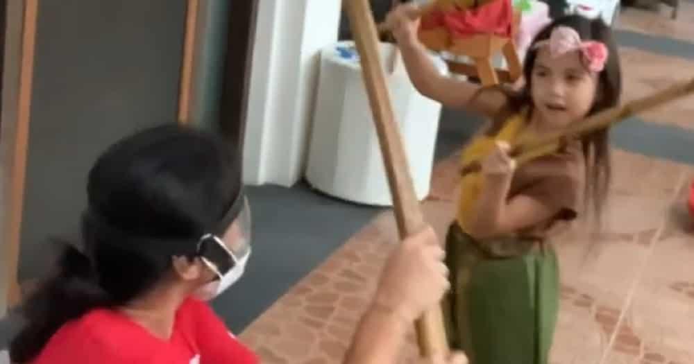 Isabella Padilla wows her dad Robin Padilla & netizens with her epic arnis skills