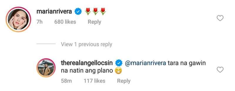 """Angel Locsin, nagpahiwatig tungkol sa isang project na kasama si Marian Rivera: """"Tara, gawin na natin"""""""