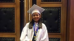 Lyca Gairanod receives medals during her graduation
