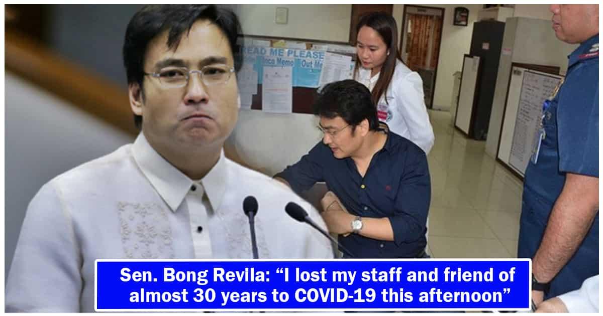 Senator Bong Revilla's staff dies of COVID-19