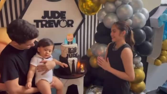 B-day celebration ng anak nina Janella Salvador at Markus Paterson na si baby Jude, ipinasilip