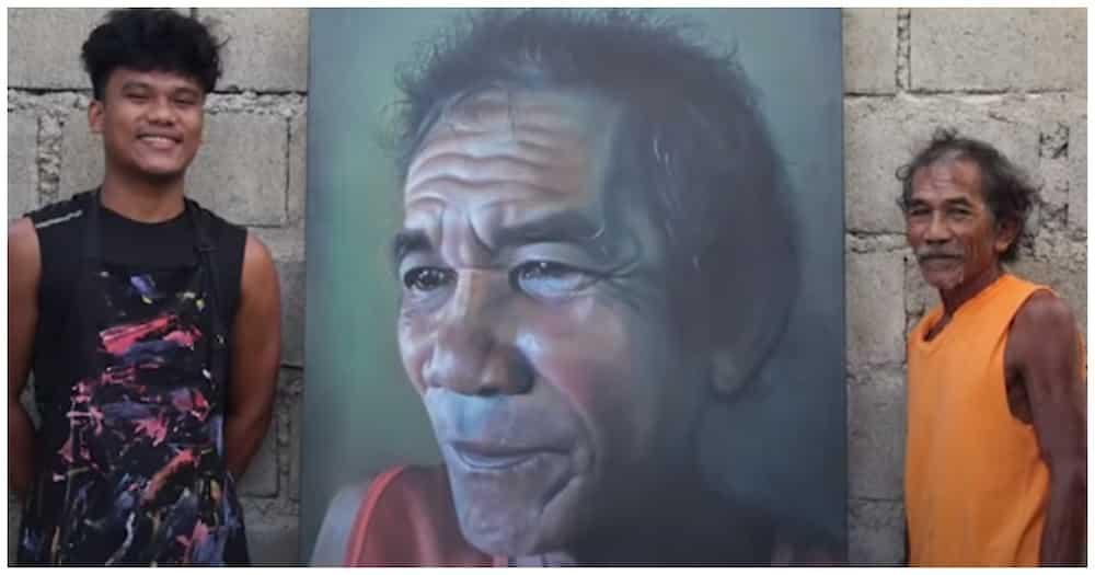 Viral artist na gumawa ng malaking portrait ng ama, pinaghahandaan naman ang Father's Day