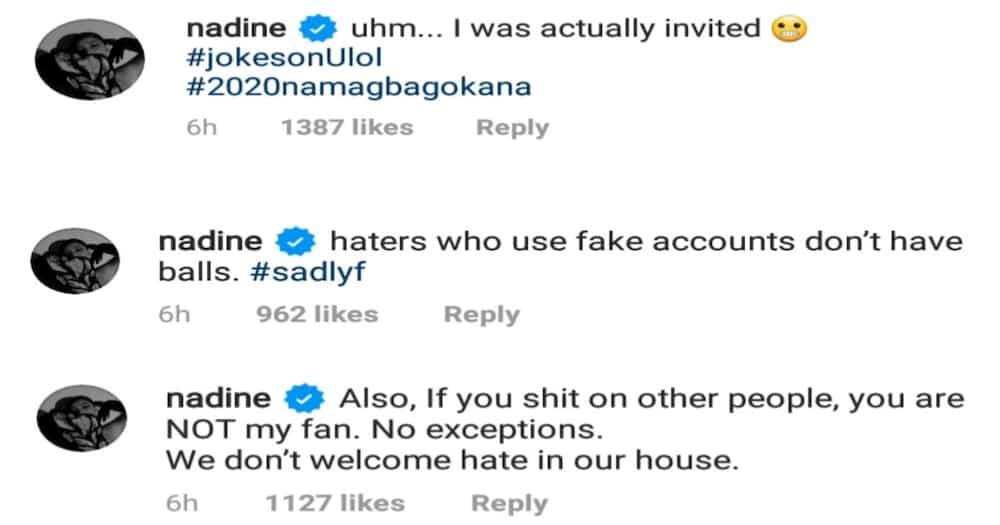 Nadine Lustre slams basher over James Reid's photo with friends