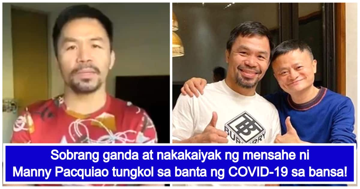 Video of Manny Pacquiao's touching message to Filipinos amid COVID-19 threat