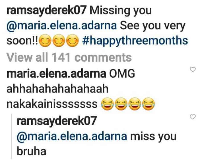 "Derek Ramsay calls Ellen Adarna ""bruha"" on their 3rd monthsary"