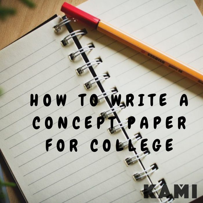 How to write a concept paper