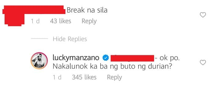 Luis Manzano takes swipe at netizen who said that he & Jessy have broken up