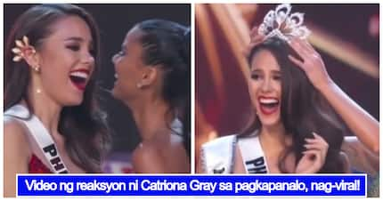 Dramatic video of Catriona Gray's reaction to winning Miss Universe 2018