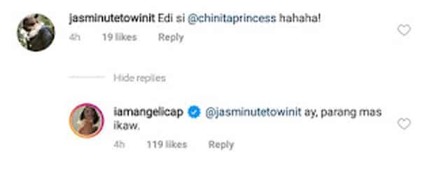 "Angelica Panganiban proves she's a goo friend, slams basher who tagged Kim as ""tanga"""