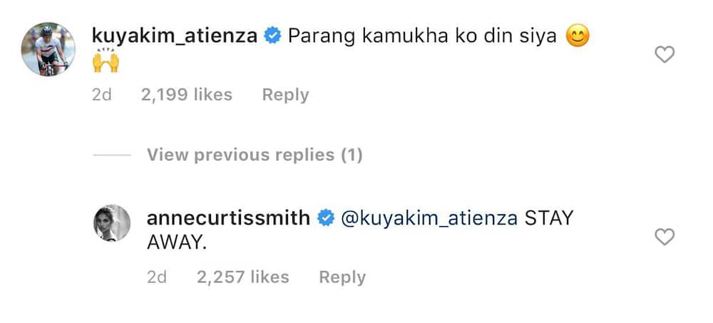 Anne Curtis reacts to Kim Atienza's comment on her photo with Park Bo Gum