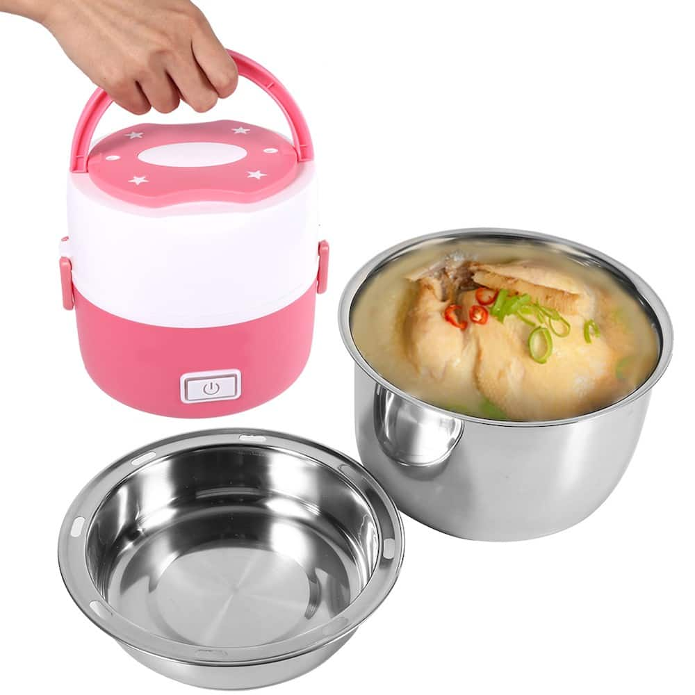 Electric heating lunch boxes perfect for reheating 'baon' at work