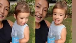 Baby Tili, todo ngiti habang nagsasalita si Solenn Heussaff sa isang promotional video