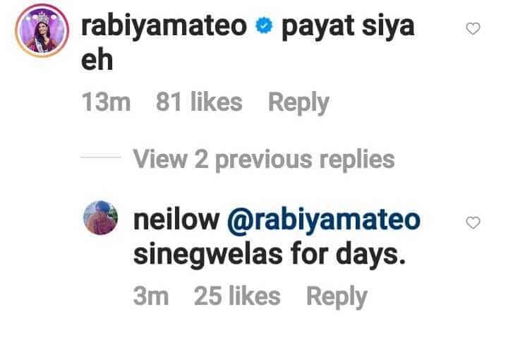 "Rabiya Mateo comments ""payat"" on Neil Salvacion's new photo amid breakup rumors"