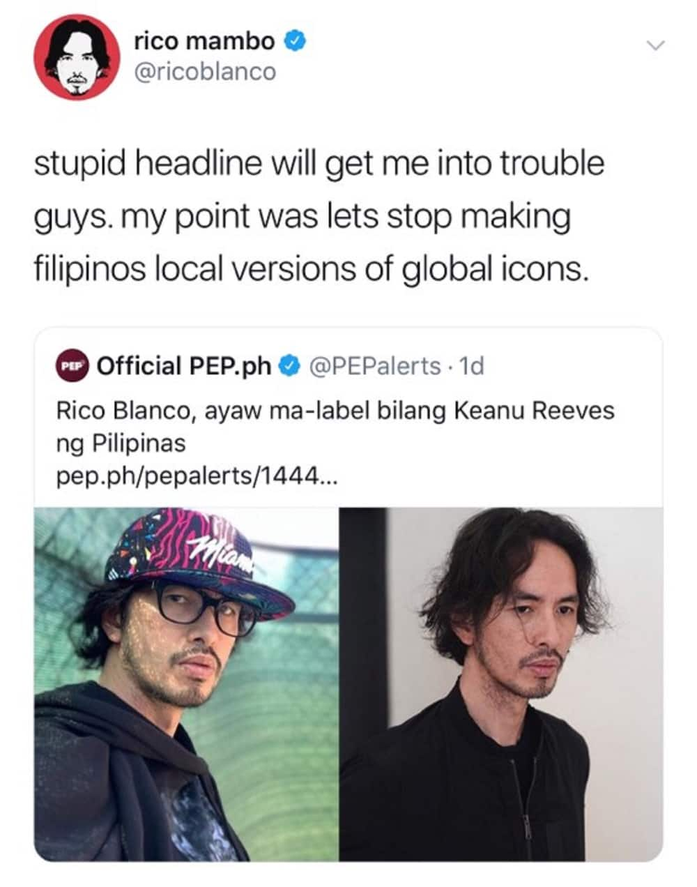 Rico Blanco calls out entertainment website for their headline about his interview