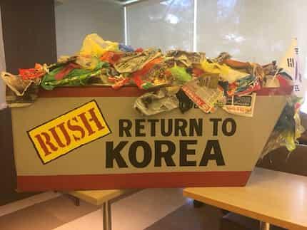 Tone-toneladang basura, ibabalik na sa South Korea