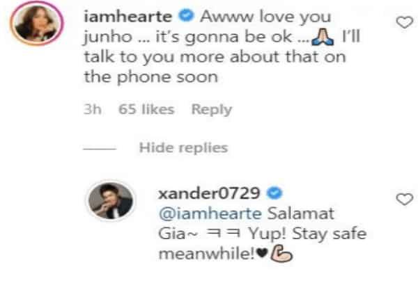 Heart Evangelista comforts Alexander Lee amidst depression issue