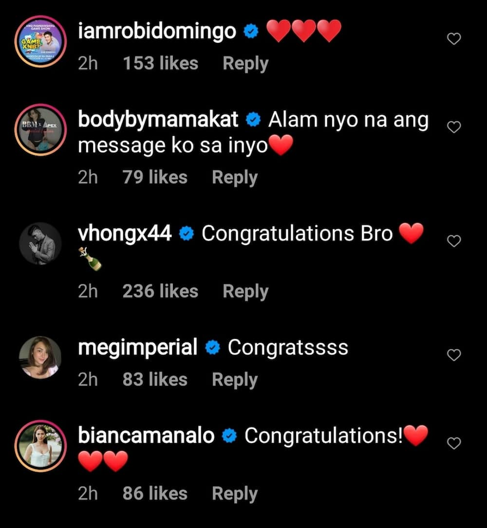 Celebrities react to Jessy Mendiola and Luis Manzano's engagement