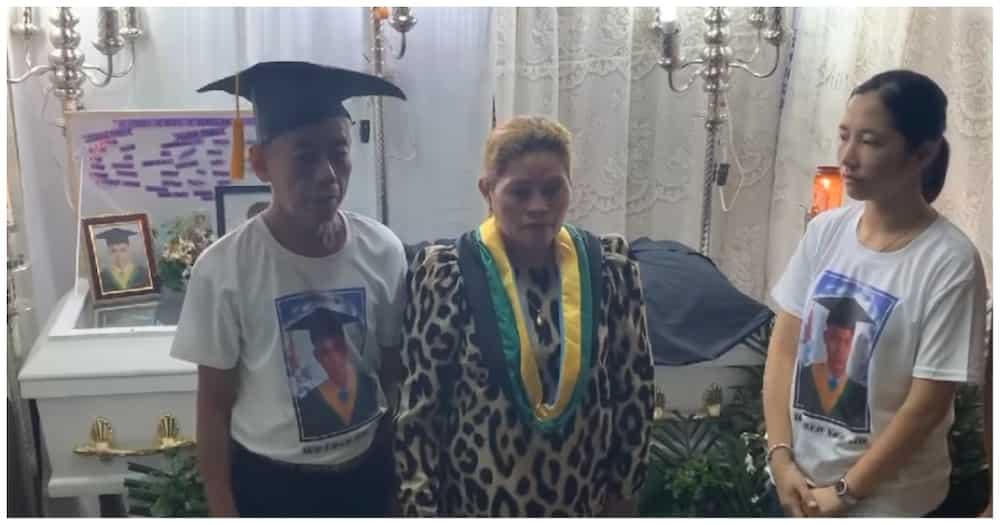 Pagdalo sa graduation ng pumanaw na college student, tinupad pa rin ng pamilya
