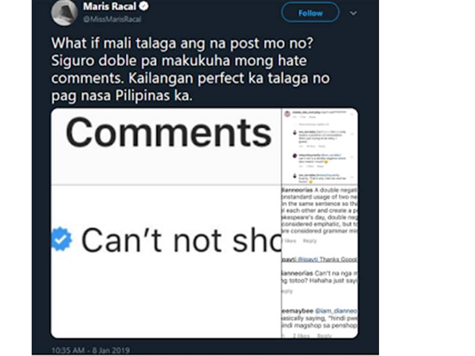 Maris Racal bursts out of anger after being bashed for her 'wrong' grammar