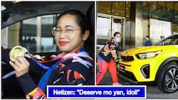 """Hidilyn Diaz receives amazing gift from Ayala Foundation; earns """"Atletang Magiting"""" title"""