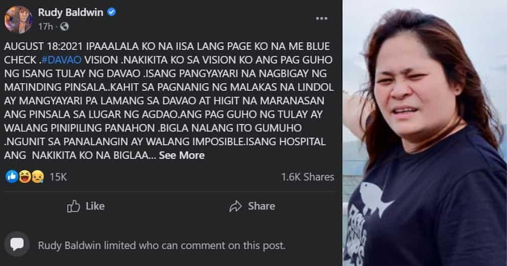 Rudy Baldwin, nag-off ng comment section matapos umanong ma-Tulfo