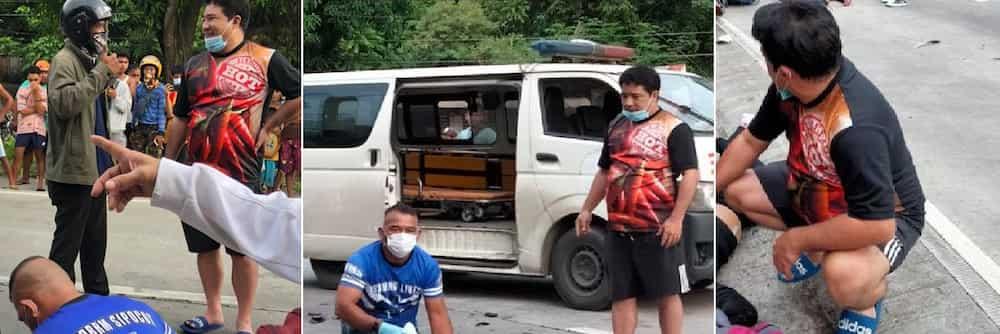 Anjo Yllana, tumulong sa mga biktima ng isang motorcycle-truck collision