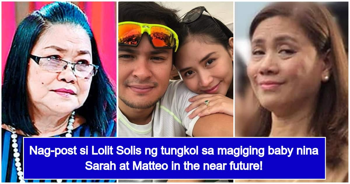 Lolit Solis Talks about Sarah and Matteo Having a Child, Mentions Mommy Divine