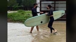 Netizen posts video, pics of Jericho Rosales & wife's heroic efforts amid typhoon
