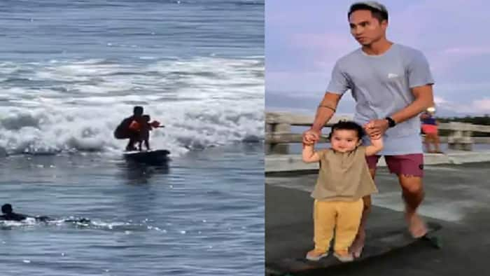 Video of Lilo bravely surfing with Philmar Alipayo stuns netizens