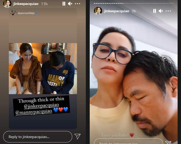 Jinkee Pacquiao comforts Manny Pacquiao in hotel room after his gruelling fight