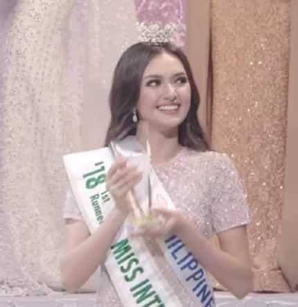 Pinoy pride! Ahtisa Manalo, kinoronahan bilang Miss International 2018 first runner-up