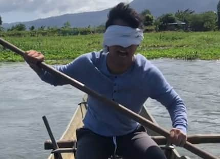 Ken Chan does 'Bird Box' challenge on a river; triggers mixed reactions from netizens