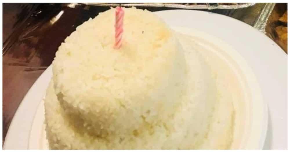 Ina, sinurpresa ng mga anak ng 3-layer cake na gawa sa kanin